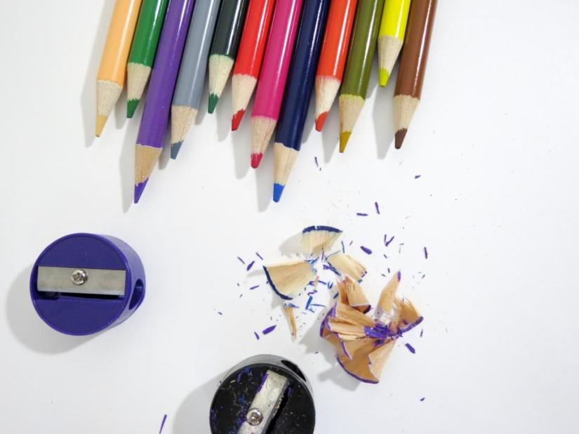 Color Pencil Shaving