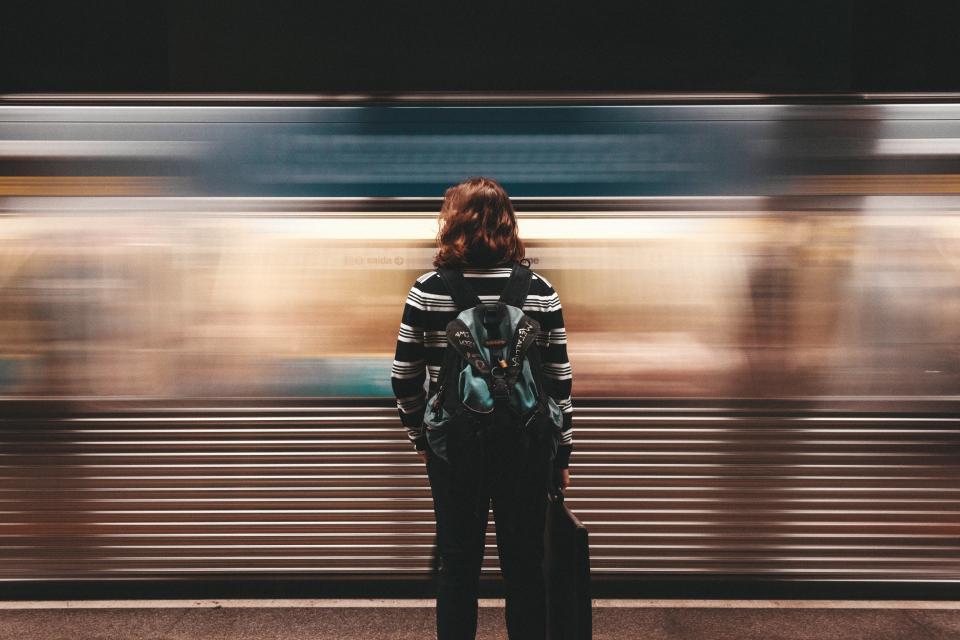 Waiting at the train