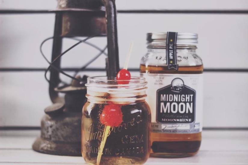 Jar with cherry