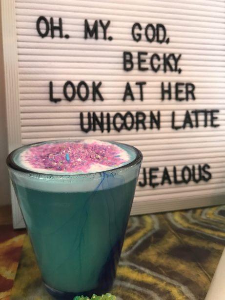 Unicorn latte